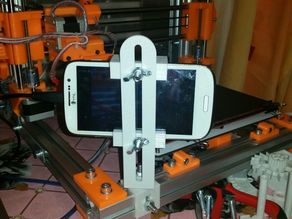 Universal phone/webcam holder to stream the printing progress.