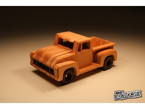 1954 Ford F100 simplified CNC model | with interior