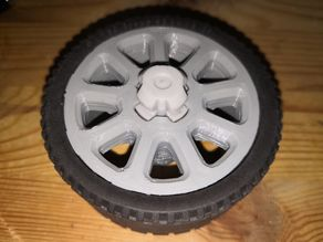 Lego Rim for Dirt Crusher with normal tires.