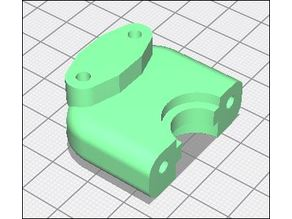 Hotend Clamp with BLtouch mount for Infill 3D 75 Geared Extruder