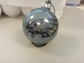 Eagles Stipple Ornament