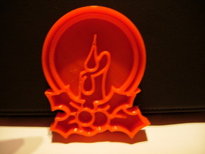 Cookie Cutter Christmas Candle