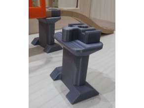 Wooden train bridge column compatible to IKEA set