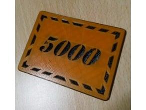 Poker Chips 5000-er Jetons Plaques token selfmade