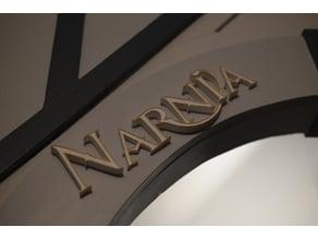 3D Narnia Sign
