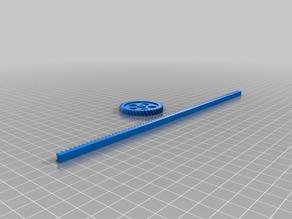 My Customized  Parametric Gear Rack and Pinion