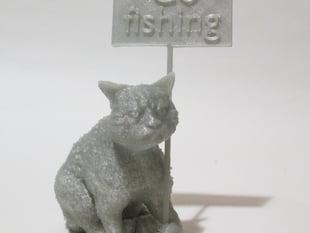 Grumpy cat with a grumpy sign