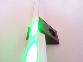 LED strip holder 45 degree 16 x 9.5 mm alloy
