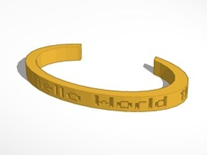 """HELLO WORLD"" Wristlet for Coders"