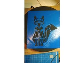 Low poly stencil fox