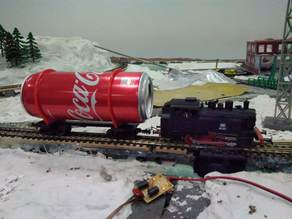 The Coca-cola Wagon in HO scale 1:87