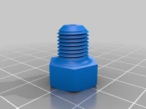"""Filamentreinigungsschraube 3/8"""" (Filament Screw) für Prusa i3 Hephestos und ähnliche"""