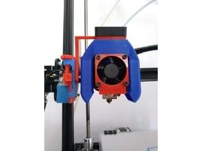 Fan Duct Combo Tronxy X3 big holes + Sensor + light