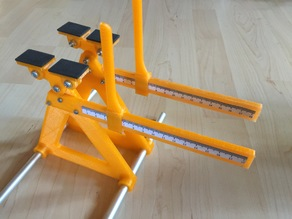 Center of gravity scale for RC planes