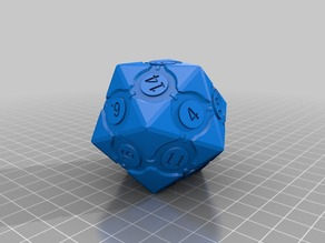 Companion icosahedron with numbers - FIXED/REPAIRED