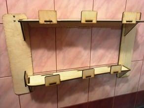 Shelf in the bathroom laser cut