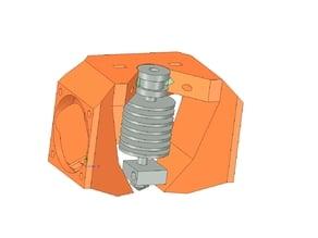 Fan duct for graber bowden (2x40mm fan)