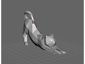 Low Poly stretching cat