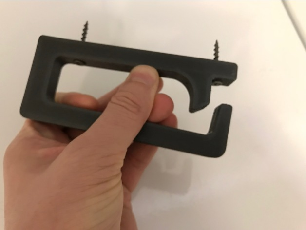 Under Desk Cable Management Hook By Nzalog Thingiverse