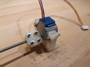Customizyble mount for stepper 28BYJ-48