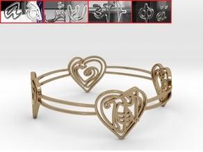 Personalised Zodiac Monkey Heart Bracelet