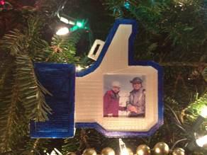 'Like' Social 2-sided photo frame/Xmas tree ornament