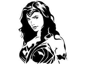 Wonder Woman stencil 2