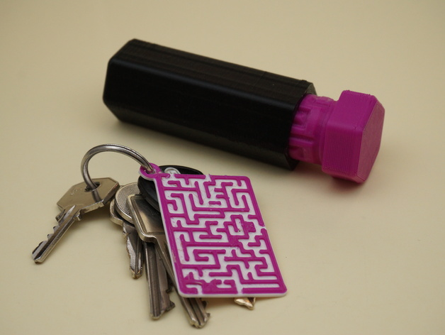 Maze/Labyrinth Gift Box Solution Key Chain by wstein - Thingiverse