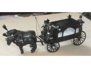 SCALEPRINT HORSE DRAWN HEARSE 00 HO SCALE