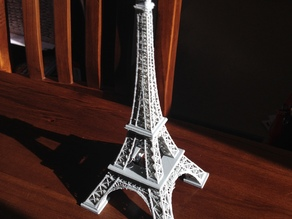 Eiffel Tower One piece and sized for I3 printer