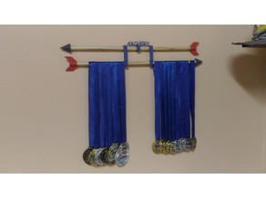 Archery arrow style medal holder