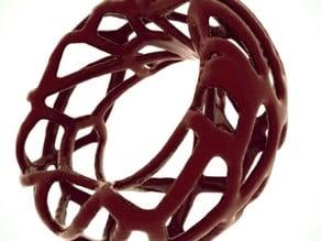 voronoi double-shell bracelet