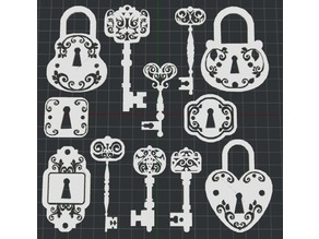 Keys and Locks 2D Wall Art