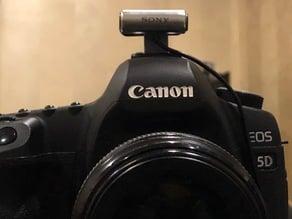 Sony ECMCS3 mount for camera hot-shoe.