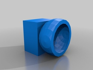 3-axis ball and socket pivot/joint component