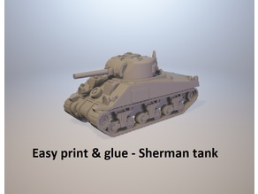 Easy print & glue - Sherman V tank (M4A4)