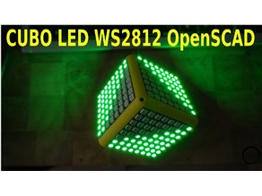 CUBE LED with Neopixel Matrix panels WS2812.