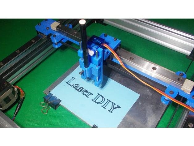 031-Homemade Pen Lift Plotter CoreXY CNC Robotic Arduino