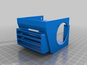 Anycubic I3 Mega remixed improved Hotend Fanbox for bltouch