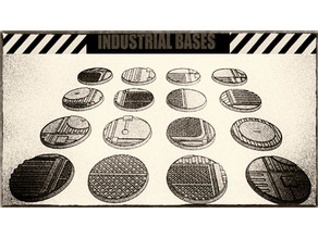 32mm Industrial Miniature Bases (x16) - For Warhammer 40k, Dungeons & Dragons, Pathfinder and more.