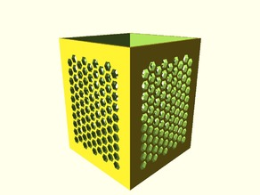 Box with Honeycomb cut-outs