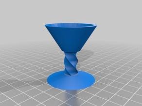 Miniature martini glass