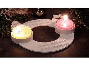 2 bit advent wreath/Adventskranz