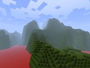 Minecraft landscape from mineways