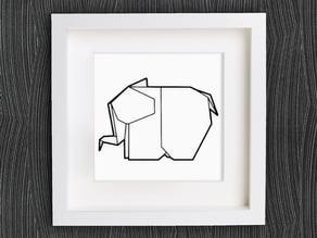 Customizable Origami Elephant
