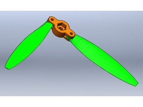 Propeller with folding blades for drone