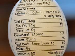 Eggbot Nutrition Label
