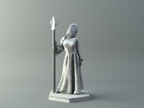 Naga witch - D&D miniature