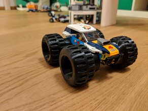Monstertruck tire for a desert buggy eg. Lego car