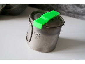 Keith titanium cup (with lid) transport clip
